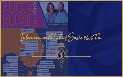 Interview with Luke & Susie 96.5FM